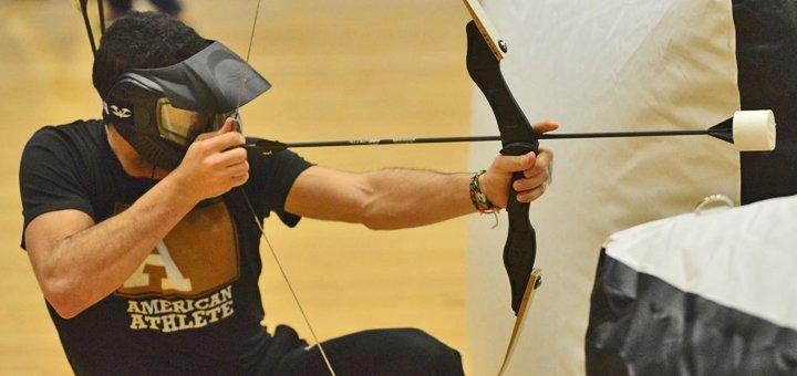 Командная игра в Archerytag со стрельбой из лука для компании в центре спортивного пейнтбола «Экспресс»