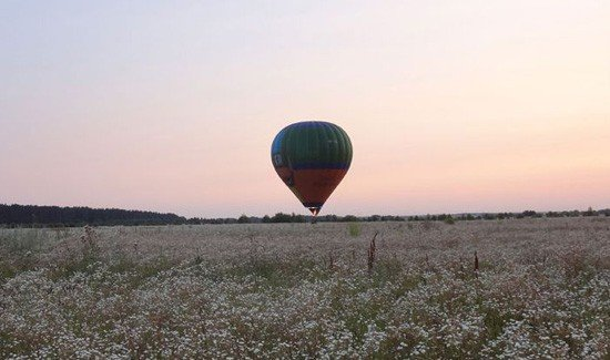 Полет на воздушном шаре над Киевом от воздухоплавательного общества «Монгольфьер»